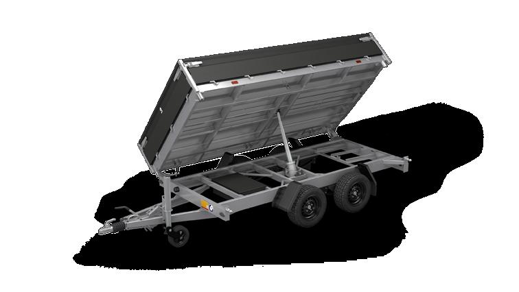 Cobalt Plus - Tandemasser achterwaartse kipper aanhangwagen